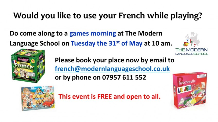 Free French games morning