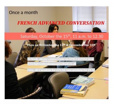 Monthly French Advanced Conversation