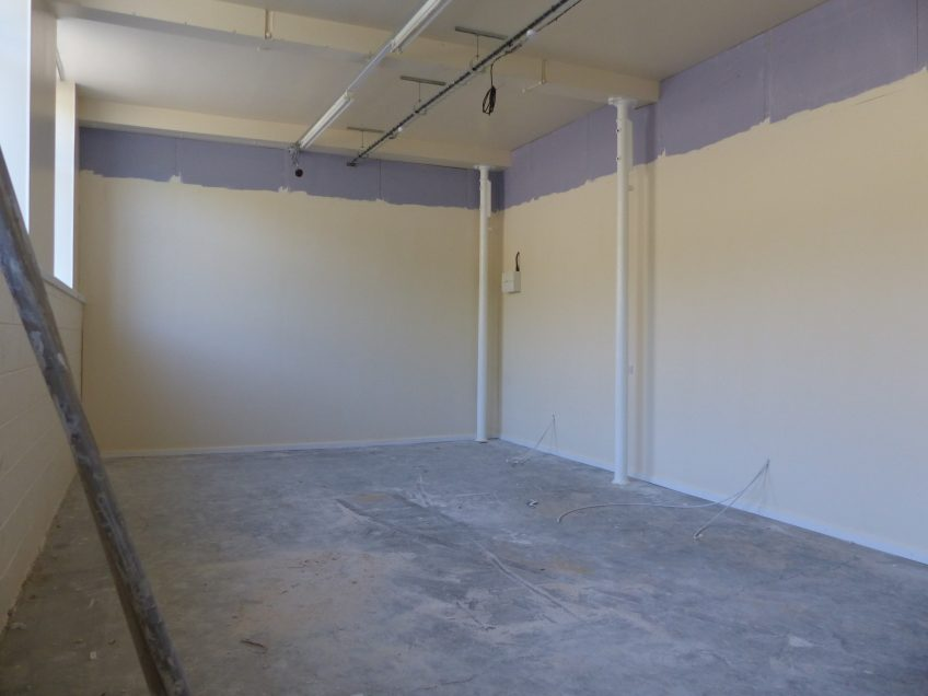 Some of the finishing work at unit 7