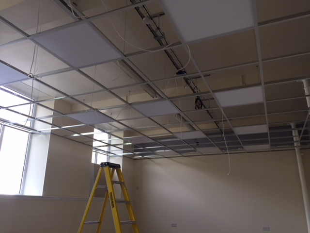 Getting there: painting, ceilings and lights!